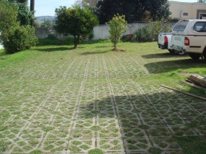 grass block pavers parking lot