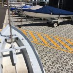 Hardstand boat storage facility created with Permeable Pavers